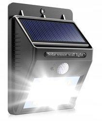 Lampa Halogen Naświetlacz Solarny z czujnikiem ruchu i zmierzchu 8W biała zimna
