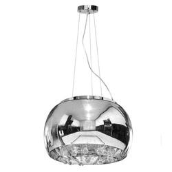 Lampa Szklana Srebrny z Prześwitami krople wody 50cm
