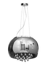 Lampa Szklana Stalowy krople wody 40cm