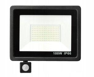 Naświetlacz LED 100W z czujnikiem ruchu barwa biała zimna
